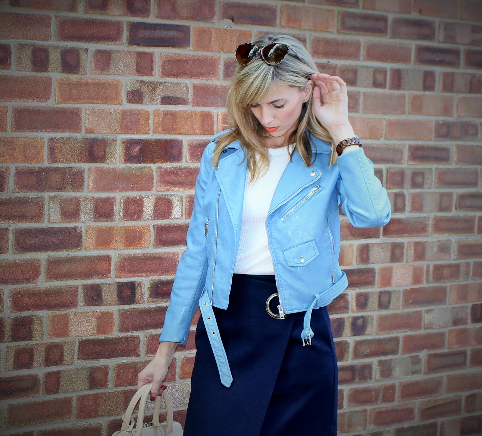 The Wrap Midi 7 - OOTD featuring Topshop skirt, River Island shoes and Zara jacket