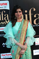 Samantha Ruth Prabhu Smiling Beauty in strange Designer Saree at IIFA Utsavam Awards 2017  Day 2  Exclusive 14.JPG