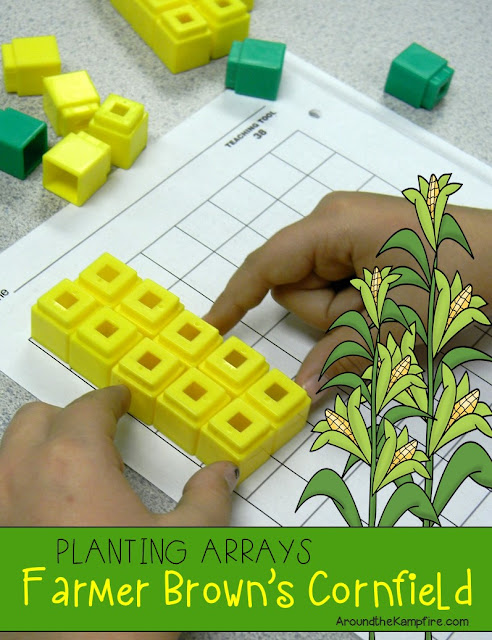 Free multiplication, arrays, rows and columns lesson visuals and math activity| Around the Kampfire
