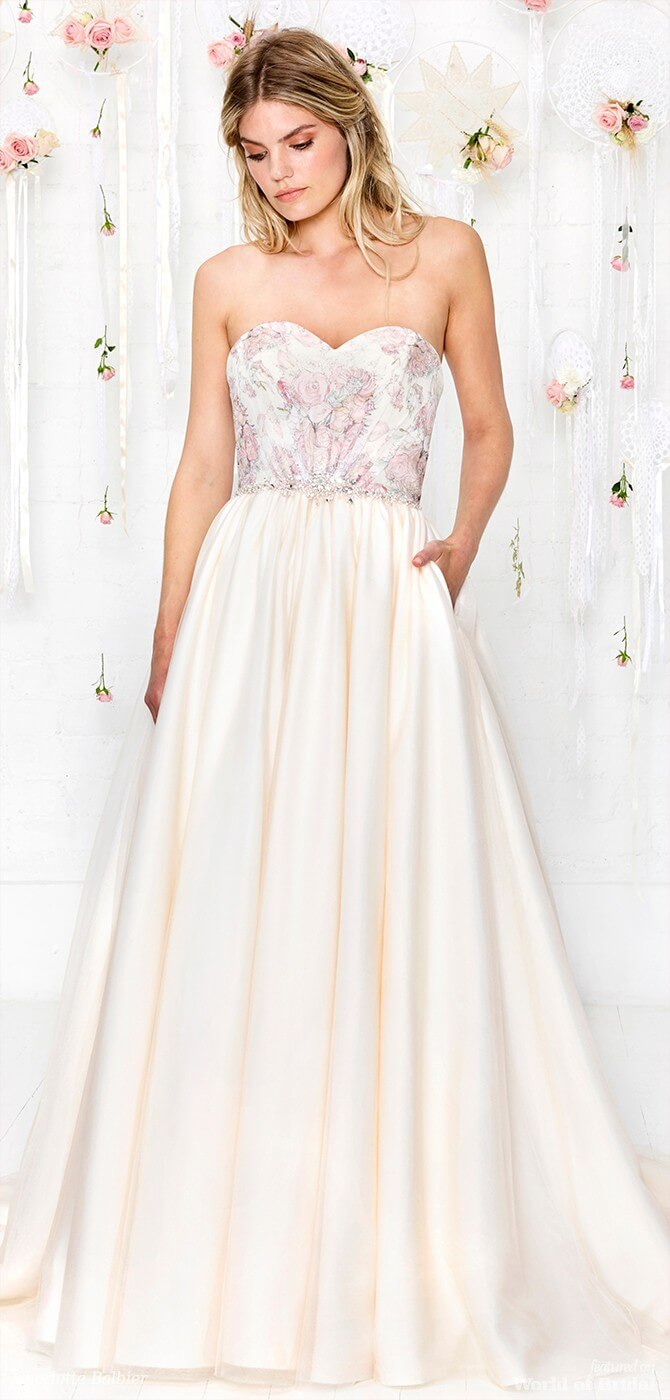 7f0832938b1 Charlotte Balbier 2018 signature bridal gown with diamante belt detail