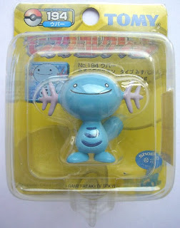 Wooper Pokemon figure Tomy Monster Collection yellow package series