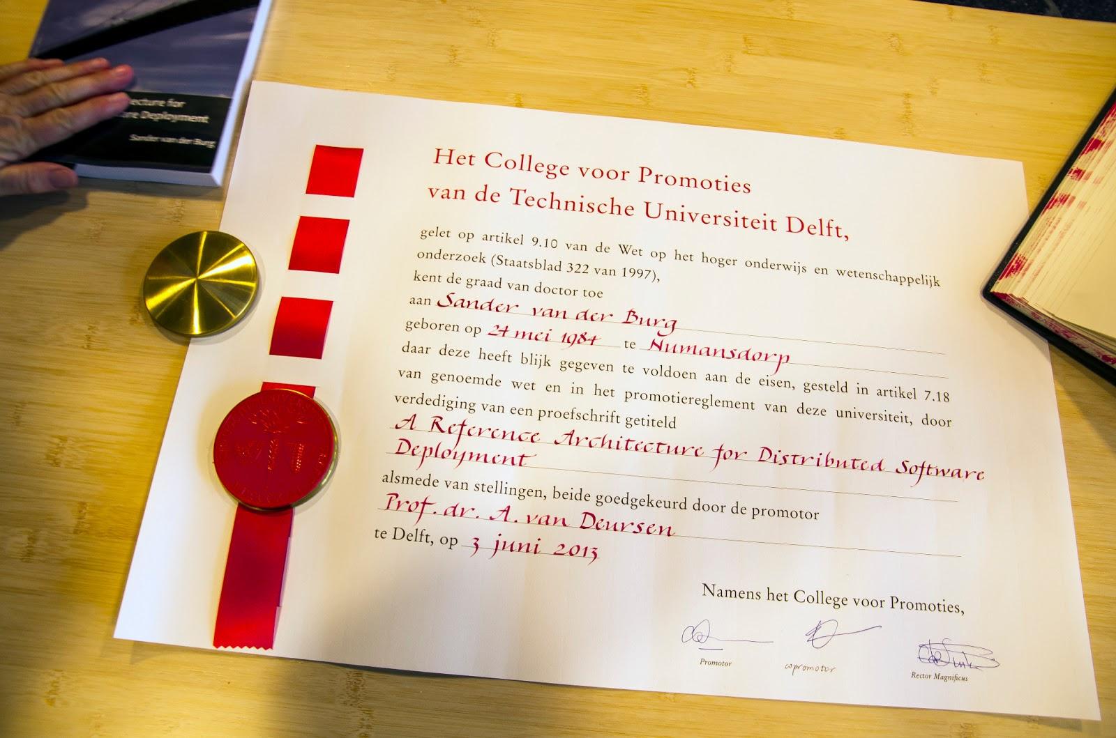diploma universiteit delft