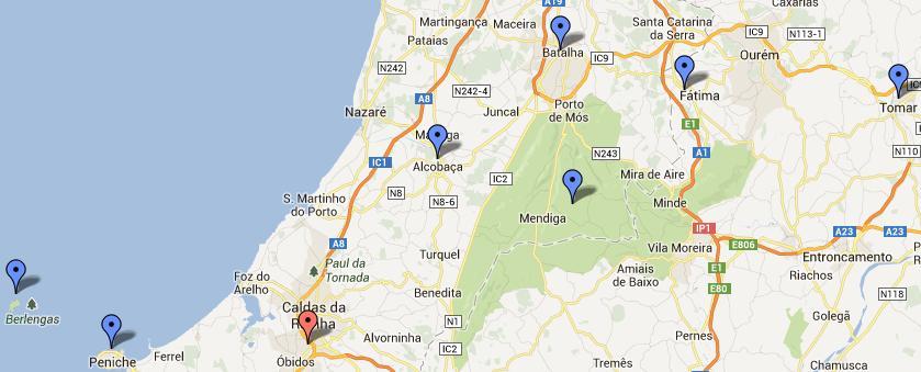 lagoa de óbidos mapa Álbum de Viagens: Junho 2013 lagoa de óbidos mapa
