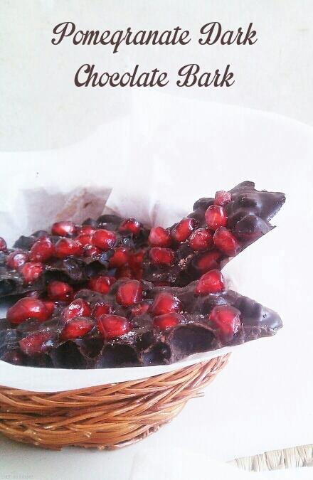 Pomegranate Dark Chocolate Bark with Black Salt