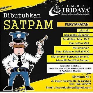 Lowongan Kerja Bimbel Tridaya Bandung Terbaru 2018