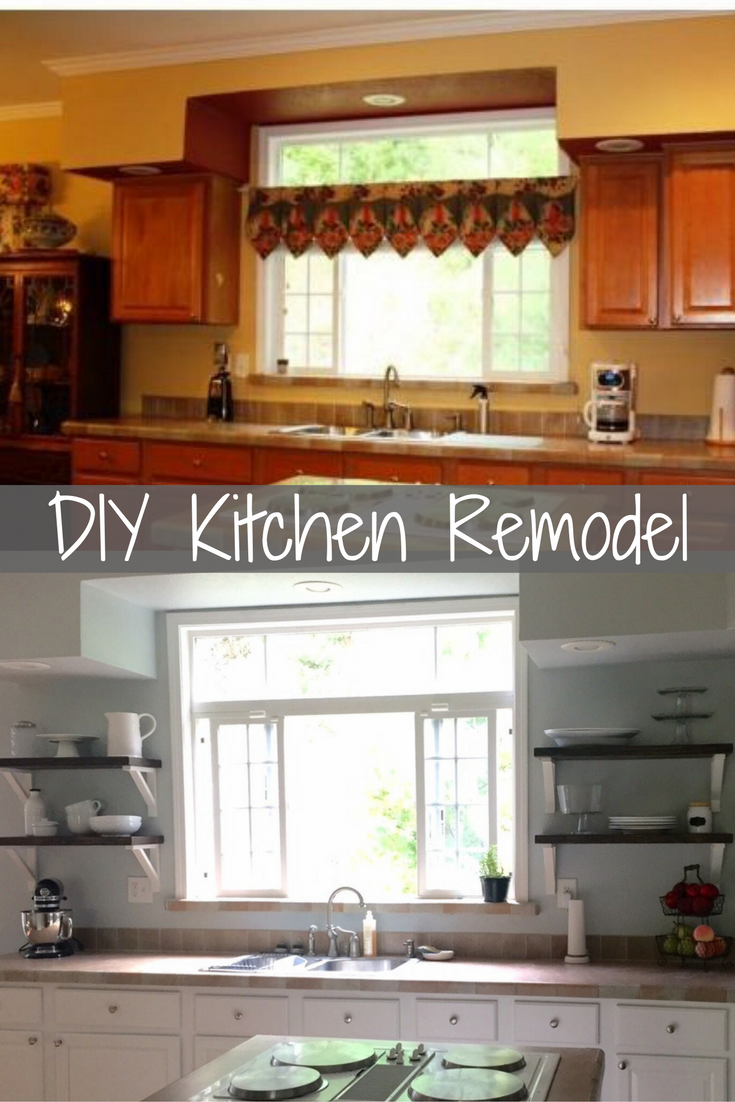 DIY Kitchen Remodel With Open Shelves, Painted Cabinets And A Minimalistic  Approach
