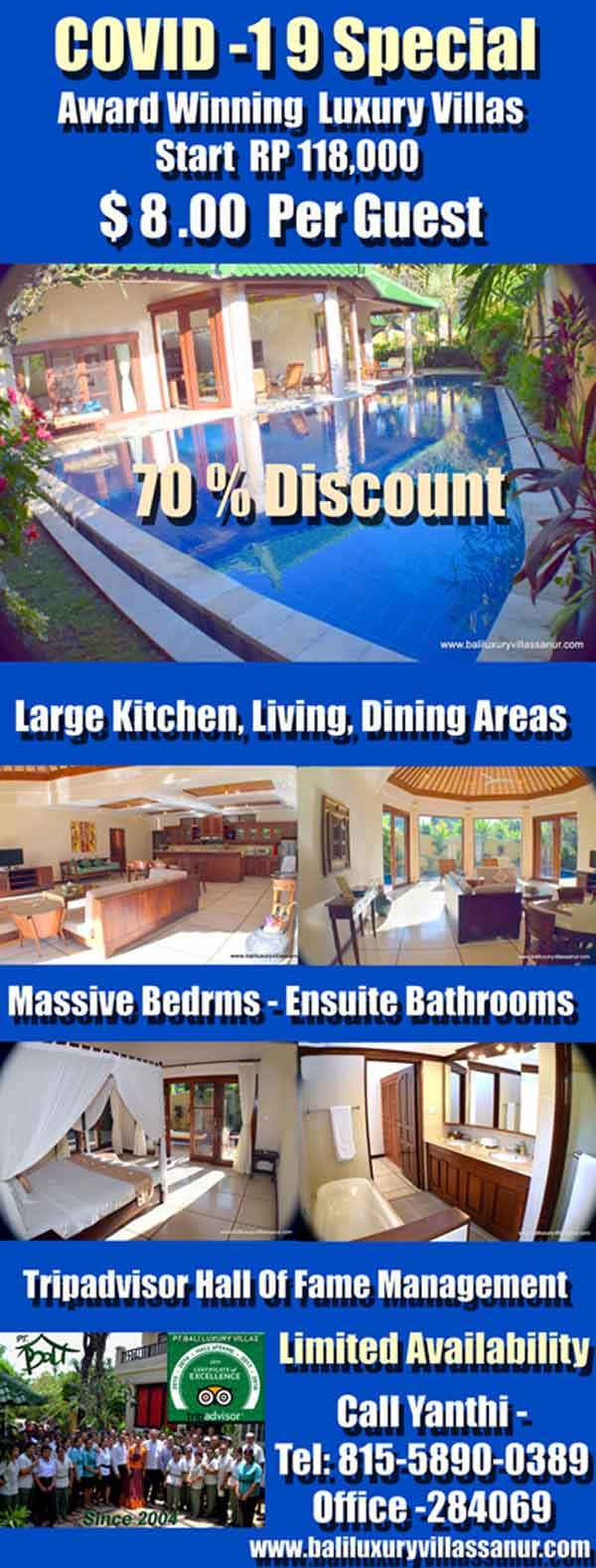 Coronavirus Special  Huge Luxury Villas & Estates Start at $6.00 per Guest