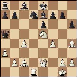 Partida de ajedrez Albareda - Bordell, 1957, posición después de 20…Cd7