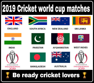 Icc cricket word cup 2019 schedule groups teams matches