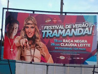 Raça Negra e Cláudia Leite em Tramandaí