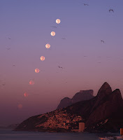 Rio Morning Moonset