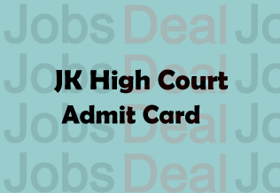 JK High Court Junior Assistant Admit Card 2017