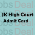 JK High Court Junior Assistant Admit Card 2017 Steno Typist Hall Ticket