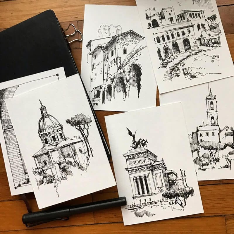 01-Vignettes-Jerome-Tryon-Travel-Architectural-Urban-Sketches-www-designstack-co