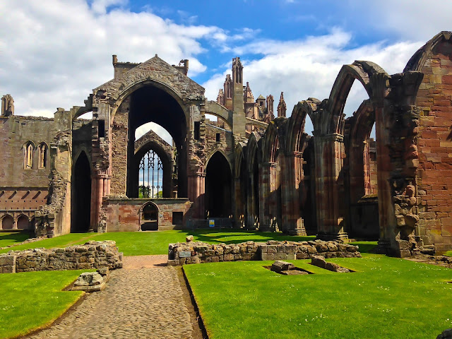 Melrose Abbey ruins