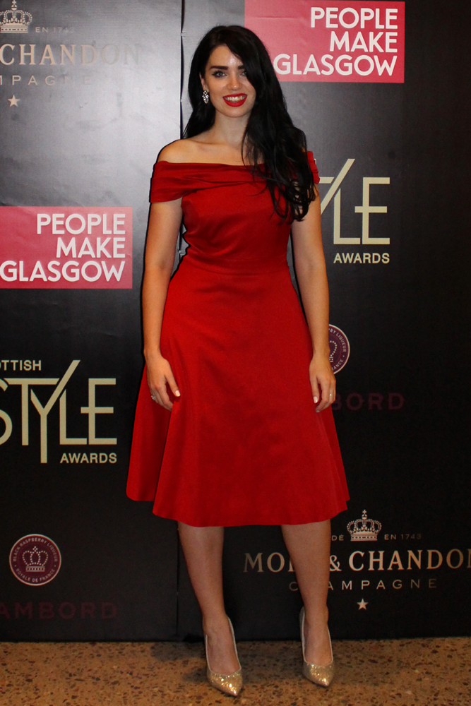 Fashion blogger Emma Louise Layla at the Scottish Style Awards 2015 in Glasgow