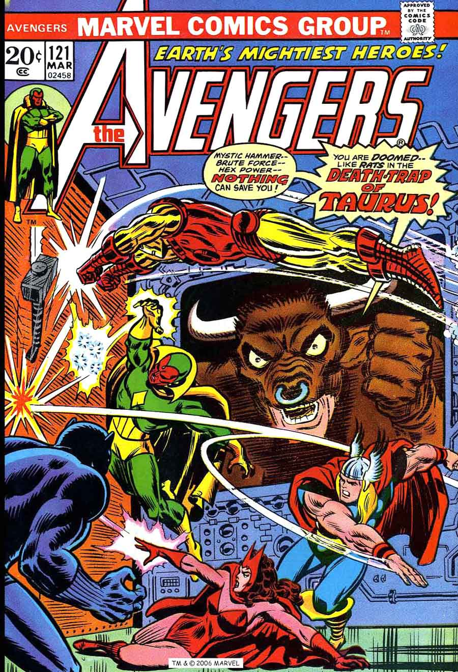 Avengers v1 #1 marvel comic book cover