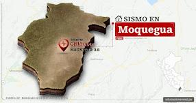 Temblor en Moquegua de 3.6 Grados (Hoy Miércoles 20 Septiembre 2017) Sismo EPICENTRO Calacoa - Mariscal Nieto - Carumas - IGP - www.igp.gob.pe