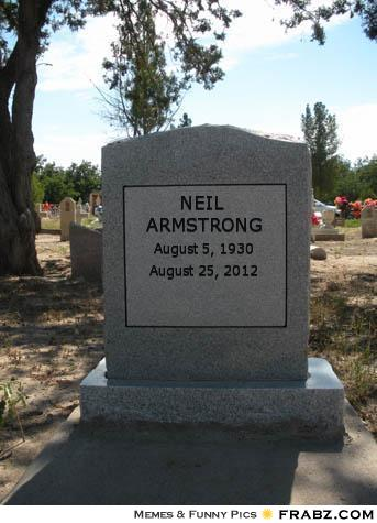 when did neil armstrong tombstone - photo #14