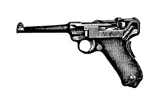 gun luger pistol illustration digital download