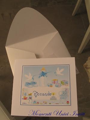 bimbo Biglietto nascita ed invito al battesimo bimboBattesimo Biglietti Nascita