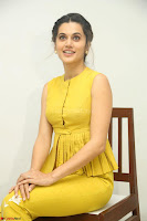 Taapsee Pannu looks mesmerizing in Yellow for her Telugu Movie Anando hma motion poster launch ~  Exclusive 016.JPG