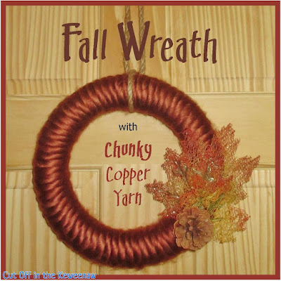 copper yarn wreath
