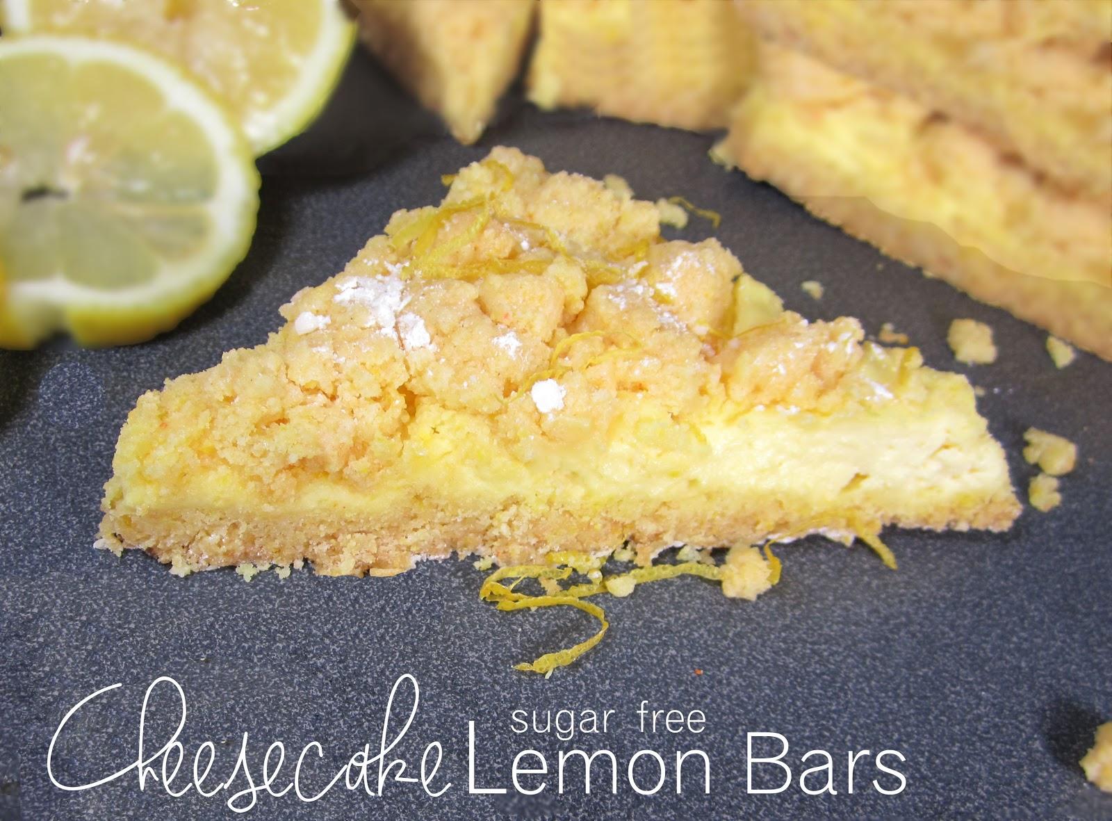 365 Designs Sugar Free Lemon Cheesecake Bars With Splenda