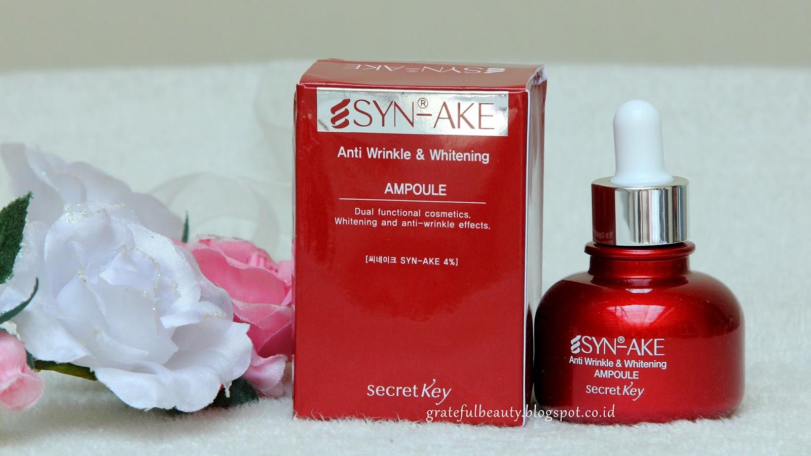 Skincare Review Secret Key Syn Ake Anti Wrinkle Whitening Inez Aging Serum Dan Sekarang Mari Kita Bahas Lebih Detail Lagi Nake Ampoule Ini