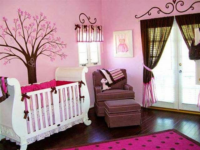 ideas for painting a nursery for a baby girl