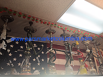 Khalil Mamoon Hookah selection at Pars Market in Howard County Columbia Maryland 21045