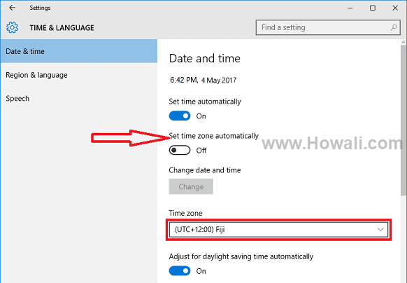 How to Fix Wrong Time in Windows 10, 8 and 7 - Howali com