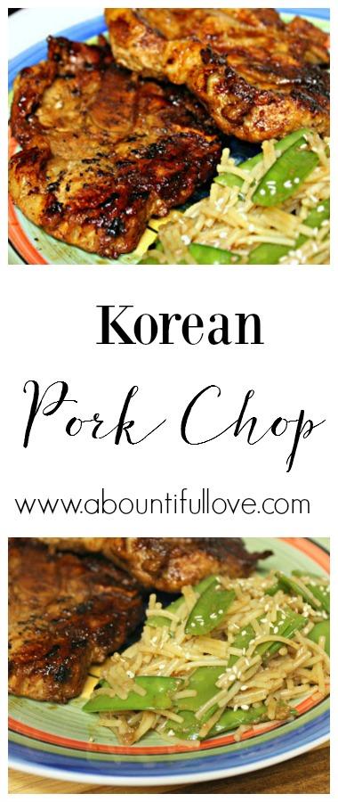 Korean Pork Chops - A Bountiful Love