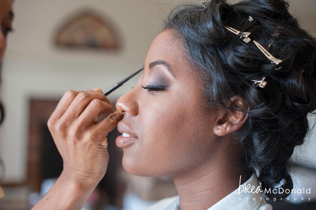 African American Makeup A Garden Wedding