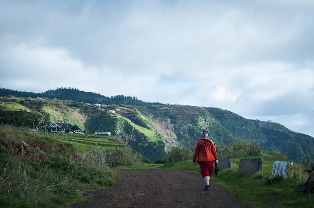 Walking to Ponta do Pargo, Madeira