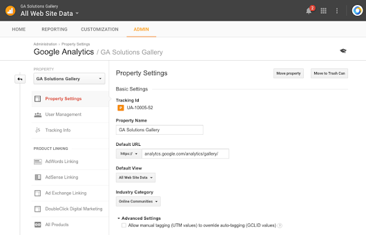 Improved Analytics Administration via Property Moving