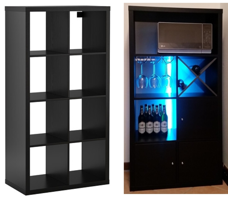 mobile bar ikea : ... Soli Un Mobile Bar Partendo Da Uno Scaffale IKEA ~ Home Staging Italia