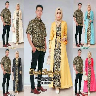 gamis batik kombinasi untuk acara resmi