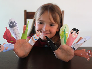 Image: Passover Finger Puppets – The Ten Plagues