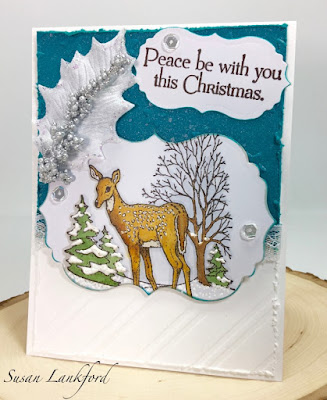 ODBD Peaceful Deer, ODBD Customer Card of the Day Created by Susan Lankford