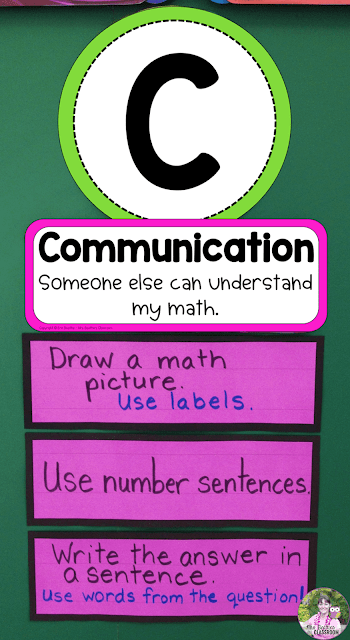 Photo of the Communication section of a TACK Board with examples of skills and strategies.