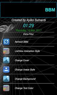 BBM MOD Special  Dark Black Blue v3.3.1.24 APK Terbaru 2017 For Android
