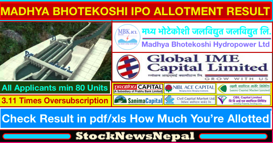 Www ipo share result