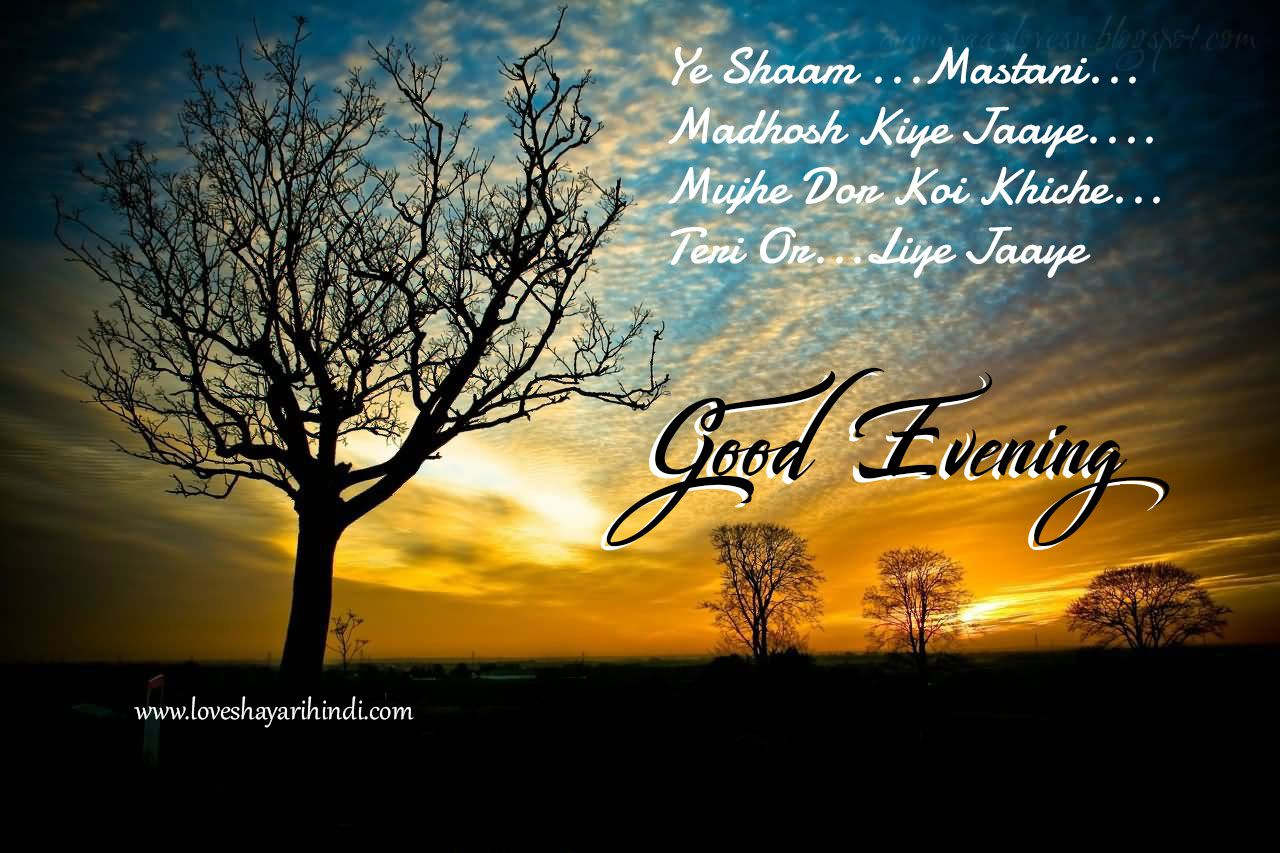 Good Evening Shayari ,SMS, Messages ,Wishes In Hindi | गुड इवनिंग शायरी