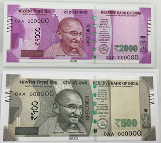 new 500 and 2000 notes