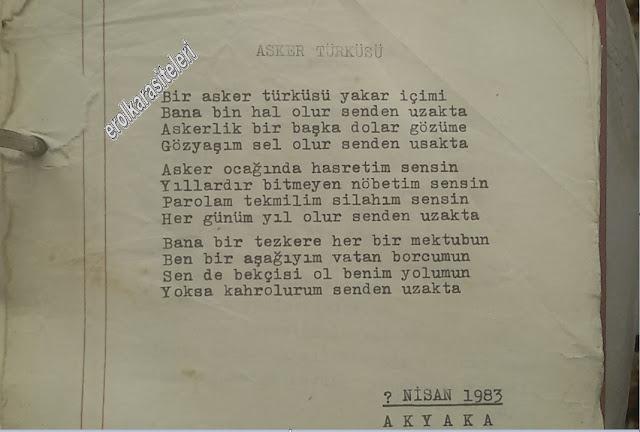Nostaljik Asker Şiirleri - Asker Türkiüsü