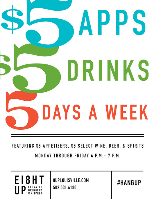 Happy Hour at 8UP from 4 p.m. - 7 p.m.