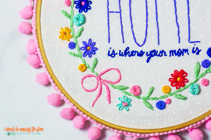 Mother's Day Embroidery