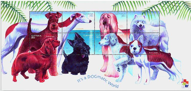 犬の切手@Salukis2 Dog Stamps From Around the World