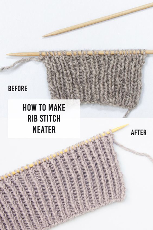 How To Make Rib Stitch Neater - Tutorial